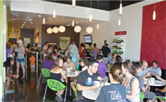 Yumz® Gourmet Frozen Yogurt Interior