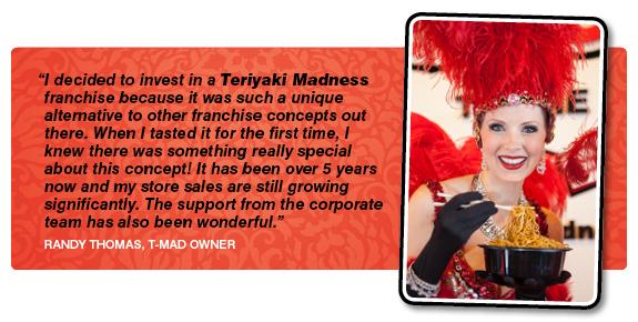 Teriyaki Madness Testimonial